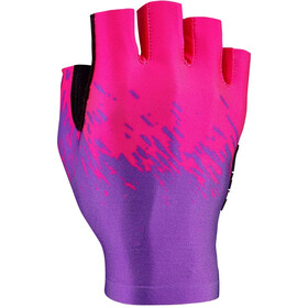 Supacaz SupaG Short Finger Gloves neon purple/neon pink